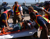 Image of EMS Responders treating patient